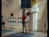 Гиревой спорт.Ксения Дедюхина. Рекорд в рывке гири 24 кг.